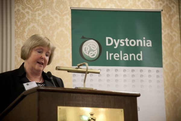 Maria Hickey Chairperson, Dystonia Ireland, speaking at the Dystonia Conference: Meet the Experts - An Information Meeting at the Shelbourne Hotel, Dublin, Saturday, 11 June 2016