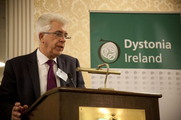 Professor Michael Hutchinson chairing the morning session at the Dystonia Conference: Meet the Experts - An Information Meeting at the Shelbourne Hotel, Dublin, Saturday, 11 June 2016