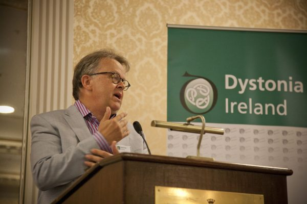 Stephen Petherbridge speaking about his personal experience of DBS at the Dystonia Conference: Meet the Experts - An Information Meeting at the Shelbourne Hotel, Dublin, Saturday, 11 June 2016,