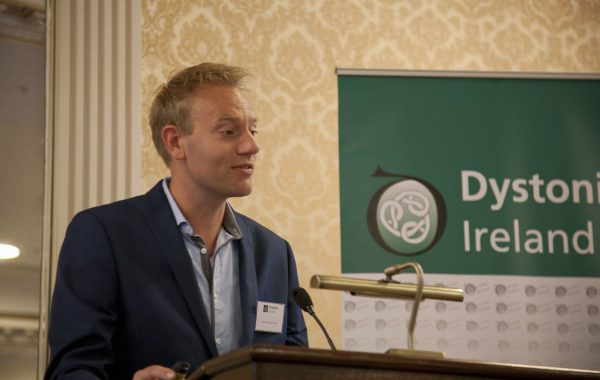 Joost van den Dool, The Dutch Dystonia Net speaking about optimizing the treatment for cervical dystonia at the Dystonia Conference: Meet the Experts - An Information Meeting at the Shelbourne Hotel, Dublin, Saturday, 11 June 2016