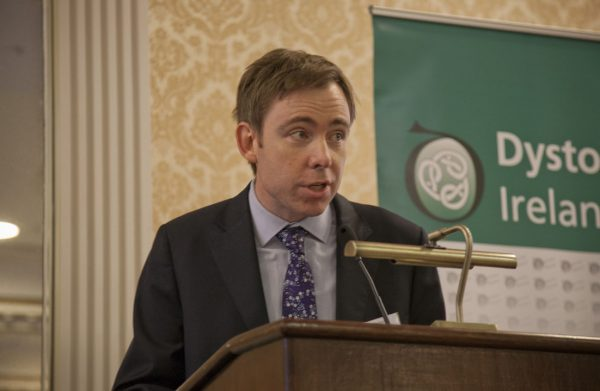 Dr Sean O'Riordan chairing the afternoon session at the Dystonia Conference: Meet the Experts - An Information Meeting at the Shelbourne Hotel, Dublin, Saturday, 11 June 2016