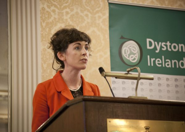 Dr Eavan McGovern speaking at the Dystonia Conference: Meet the Experts - An Information Meeting at the Shelbourne Hotel, Dublin, Saturday, 11 June 2016