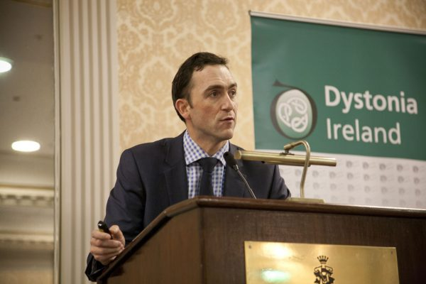 r. Richard Walsh speaking about Botulinum toxin & other drug therapy at the Dystonia Conference: Meet the Experts - An Information Meeting at the Shelbourne Hotel, Dublin, Saturday, 11 June 2016