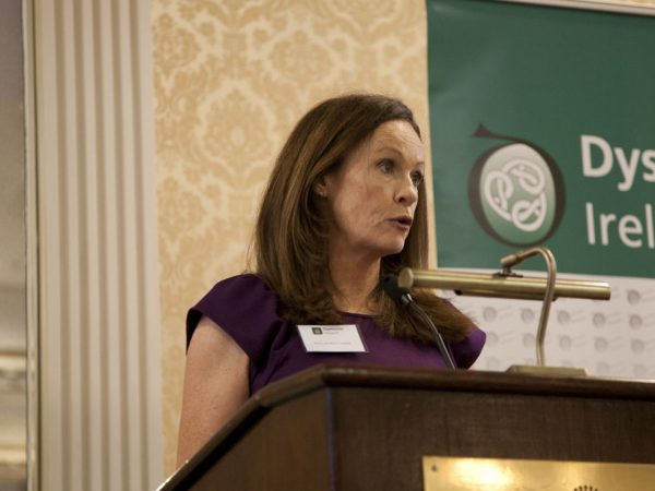 Professor Lorraine Cassidy speaking about Blepharospasm at the Dystonia Conference: Meet the Experts - An Information Meeting at the Shelbourne Hotel, Dublin, Saturday, 11 June 2016