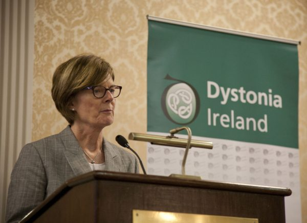 Professor Mary King speaking about Dystonia in Childhood at the Dystonia Conference: Meet the Experts - An Information Meeting at the Shelbourne Hotel, Dublin, Saturday, 11 June 2016