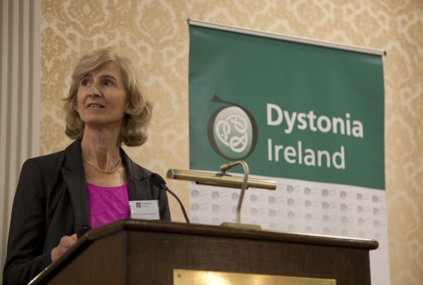 Dr Patricia Gillivan-Murphy speaking about Spasmodic dysphonia & swallowing disorders in dystonia at the Dystonia Conference: Meet the Experts - An Information Meeting at the Shelbourne Hotel, Dublin, Saturday, 11 June 2016